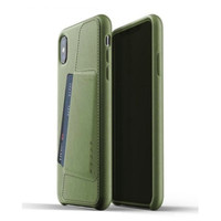 MUJJO Leather Wallet Case for iPhone XS Max Original - Olive Green