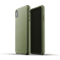 MUJJO Leather Case for iPhone XS Max Original - Olive Green