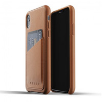 MUJJO Leather Wallet Case for iPhone XR Original - Tan Brown