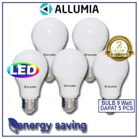 Allumia Paket Hemat Blub 9 Watt 5pcs White 6500K