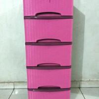 Harga best seller lemari pakaian murah motif rotan | Pembandingharga.com