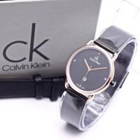 Jam Tangan Wanita CK Paket HC-632 + Box Ekslusive + Batre - HITAM ROSE