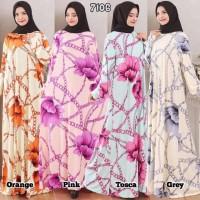 Baju Gamis Wanita Terbaru Gamis Jumbo Jersey Korea 6L 7106