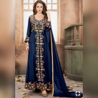 MAXI KAREENA KAPOOR/DRESS TWISCONE TEBAL APLIKASI BORDIR/BAJU INDIA