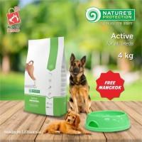 makanan anjing/nature protection active 4kg * BONUS mangkok