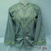 Baju Koko Pria Muslim Dewasa Lengan Panjang Bordir Baru Murah LIT 024