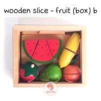 Zoetoys Wooden Slice - Fruit (Box) B | mainan edukasi | mainan anak