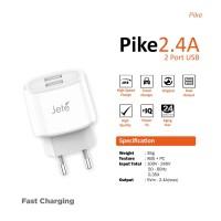 Charger Jete Pike Dual USB Garansi Resmi 1 Tahun