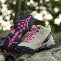Sepatu Gunung Wanita - Sepatu Hiking - SNTA Outdoor 605 - Biru + Tali