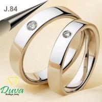 Cincin Kawin Tunangan Perak Couple J.84