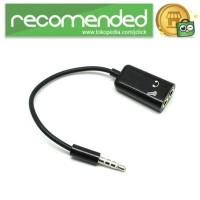 Microphone Headphone Audio Splitter 3.5mm ke 2 x 3.5mm - FA29735 - Hi