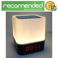Jam Alarm Mini Clock Bluetooth Speaker Lampu Tidur Colorful - XGS001