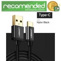 UGREEN Kabel Charger USB Type C 2.0 Nylon Braided 1.5 Meter - US174 -