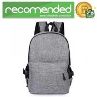 Tas Ransel Laptop Travel Bag with USB Charger Port - RA00035 - Gray