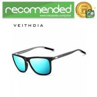 Veithdia Kacamata Retro UV Polarized Sunglasses - 6108 - Biru