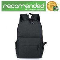 Tas Ransel Laptop Travel Bag with USB Charger Port - RA00035 - Hitam
