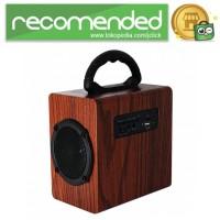 Kingneed Bluetooth Speaker Wood Design - S303 - Coklat