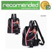 Tas Ransel Wanita Model Vintage Retro 2 Way Backpack - WANG149 - Hitam