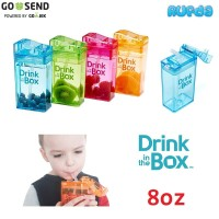 Drink in the Box 8oz Tempat Minum Anak Reusable Plastik Tritan Awet