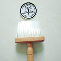 Kuas kayu wajah barber shop & Leher cukur rambut
