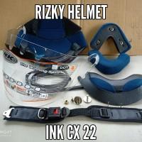 busa helm, kaca helm original,baut mur,lis karet,tali helm ink cx22