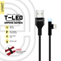 UNEED T-LED Kabel Data Lightning Fast Charging Max 2.4A - UCB33i