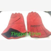 """Sarung tangan las welding gloves ukuran 14"""" YAMOTO."""