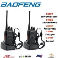 Promo Paket 2 Unit Baofeng 888s Radio HT Handy Talky / Walkie talkie
