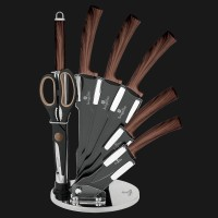 PISAU SET BERLINGER HAUS KNIFE SET OF 8 WITH STAND