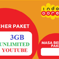 Voucer data Indosat 3GB + unlimited