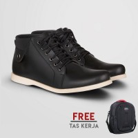 Sepatu Kasual Pria S.van Decka T-RC022-Hitam+Gratis Tas Gres/Cano