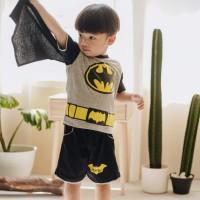 Dessan Baju Setelan Superhero Anak Laki-Laki Batman Seri 2 Bersayap