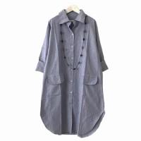 Baju Atasan Wanita Save Denim - Navy, XL