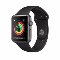 Apple Watch Series 3 GPS 42mm Space Grey Aluminium Black Sport Band