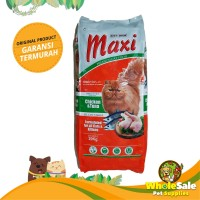 MAKANAN KUCING MAXI CAT FOOD CHICKEN TUNA 20KG KHUSUS GOSEND GRAB