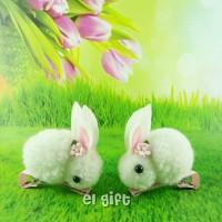 Happy Bunnies Hairclip - Jepit Rambut Anak Kelinci Sepasang