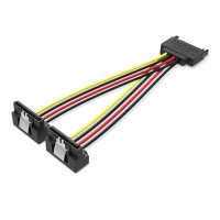 Vention KDB Kabel Power SATA 15 Pin Male to 2 Female Harddisk HDD SSD