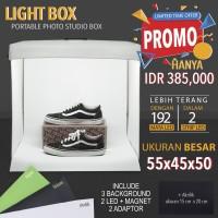 LIGHTBOX FOTO STUDIO MINI PORTABLE MAGICBOX UKURAN BESAR 55X45X50cm