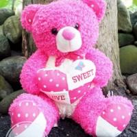 Boneka Teddy Bear Love keriting SNI