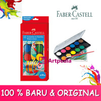 Faber Castell Watercolour Paint Cake 12 Warna-Cat Air Faber Castell