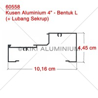"Kusen L Aluminium 4"" (60558) - Merk : ALEXINDO - Pjg. 6 meter"