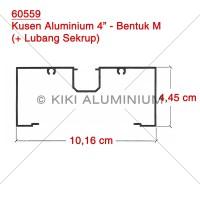 "Kusen M Aluminium 4"" (60559) - Merk : ALEXINDO - Pjg. 6 meter"