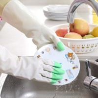 AR086 Sarung Tangan Karet Latex Tipis Anti Air Housework Rubber Gloves