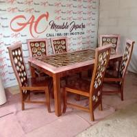 Set meja makan,kursi makan ,meja makan jati