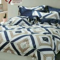 Bed cover set katun lokal halus aneka motif ukuran 160x200/180x200