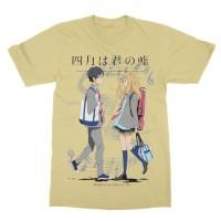 Kaos Anime Shigatsu wa Kimi no Uso - Anime - Manga - Tshirt