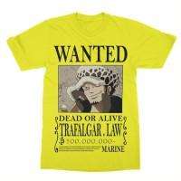 Kaos Anime One Piece Trafalgar Law Wanted - Anime - Manga - Tshirt