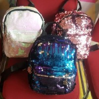 Tas ransel import mini sequin blin