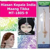 Maang Tikka MT-1805-9-Hiasan Rambut Kepala Dahi Headpiece-Ori India