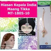 Maang Tikka MT-1805-10-Hiasan Rambut Kepala Dahi Headpiece-Ori India